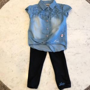 Lucky brand girls outfit. 3T
